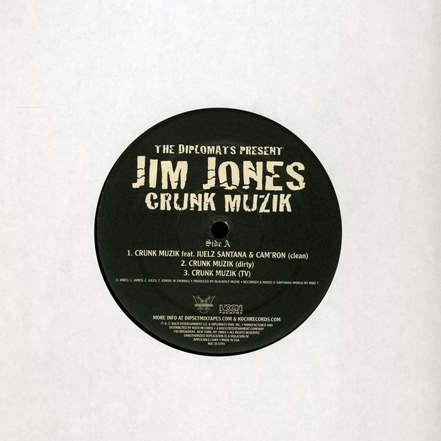 Jim Jones Presents The Diplomats CRUNK MUSIC Vinyl Record