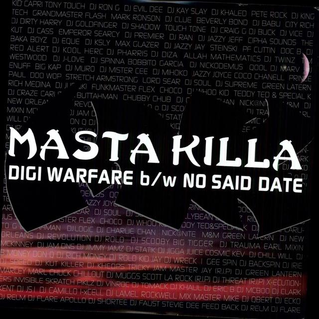 Masta Killa DIGI WARFARE / NO SAID DATE Vinyl Record