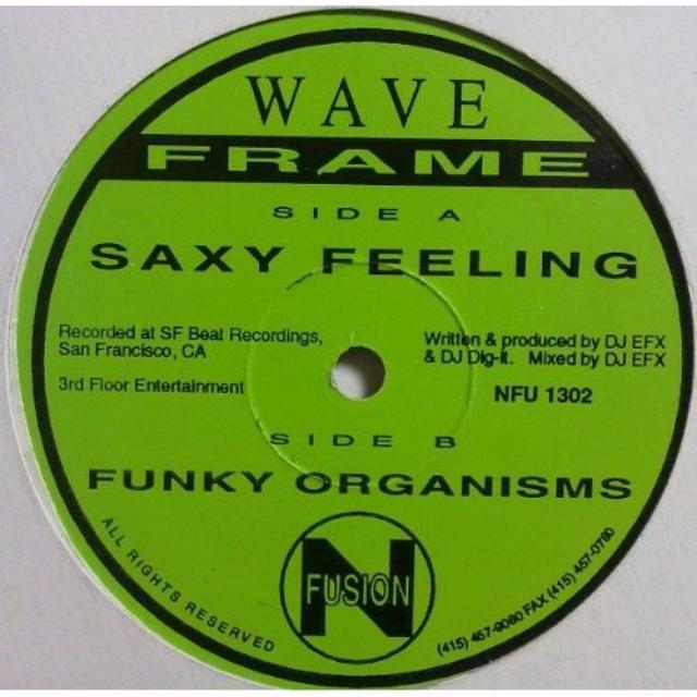 Wave Frame SAXY FEELING & FUNKY ORGANISMS Vinyl Record