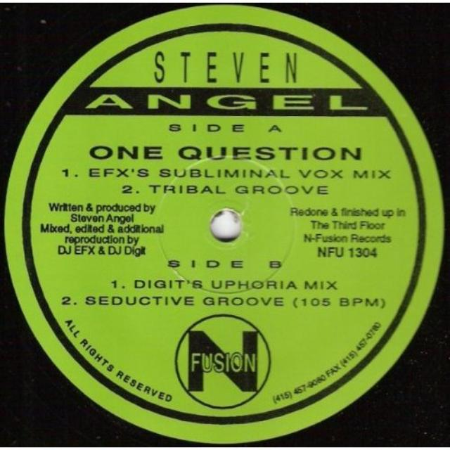 Steven Angel ONE QUESTION Vinyl Record