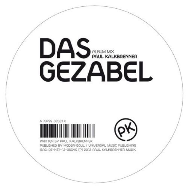 Paul Kalkbrenner DAS GEZABEL Vinyl Record