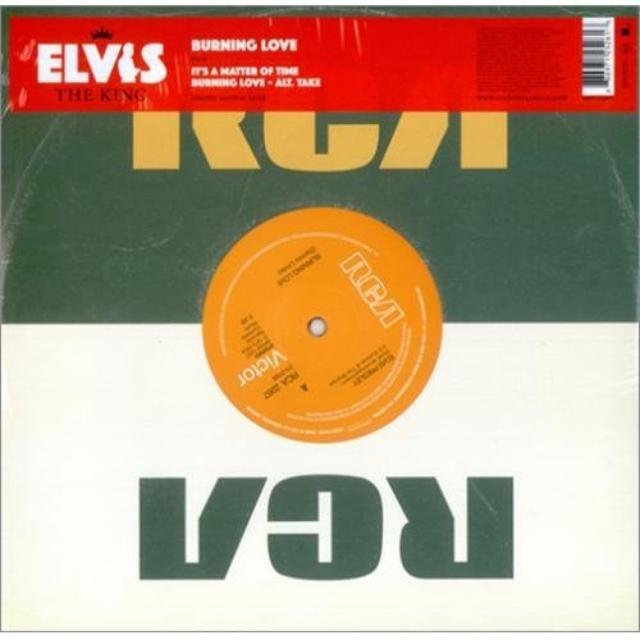Elvis Presley BURNING LOVE  (GER) Vinyl Record - 10 Inch Single