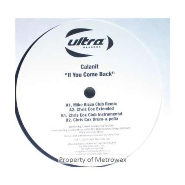 Calanit IF YOU COME BACK Vinyl Record