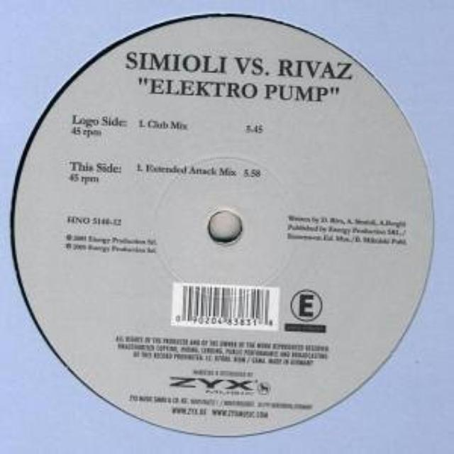 Simioli Vs. Rivaz ELEKTRO PUMP Vinyl Record