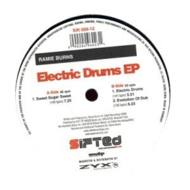 Ramie Burns ELECTRIC DRUMS EP Vinyl Record