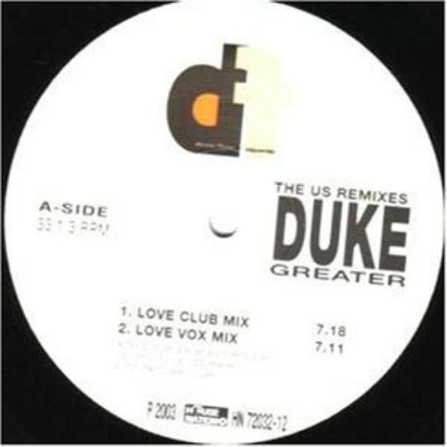 Duke GREATER Vinyl Record