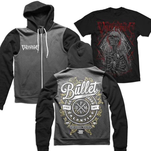 Bullet For My Valentine Skeleton T-Shirt and Bullet Hoodie Bundle