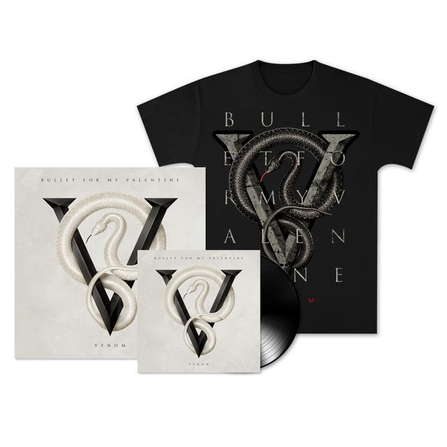 Bullet For My Valentine Venom: Deluxe Vinyl, T-Shirt & Poster Bundle