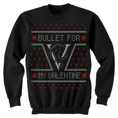 Bullet For My Valentine  Venom Drip Holiday Crew Neck Fleece Sweater
