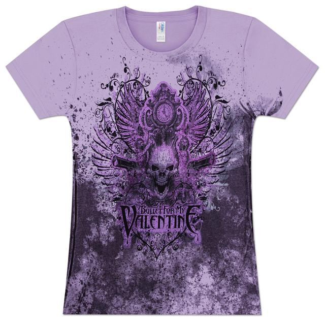 Bullet For My Valentine Guns Skull Girlie T-Shirt
