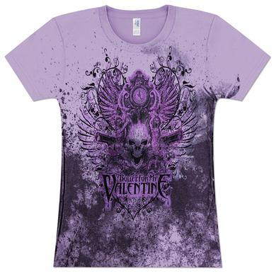 Bullet For My Valentine Guns Skull Girlie T-Shirt