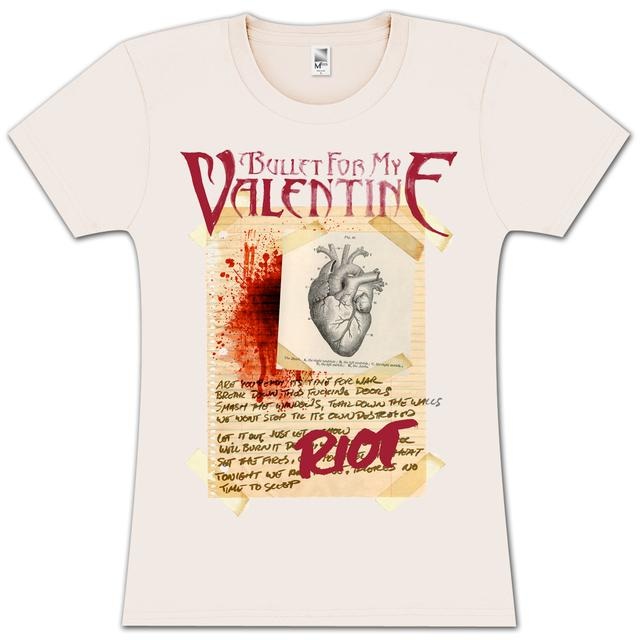 Bullet For My Valentine Taped Paper Heart Collage Jr T-Shirt