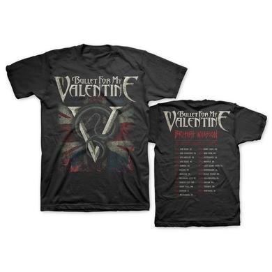 Bullet For My Valentine British Invasion 2016 Tour T-Shirt