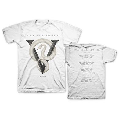 Bullet For My Valentine Venom White 2016 Tour T-Shirt