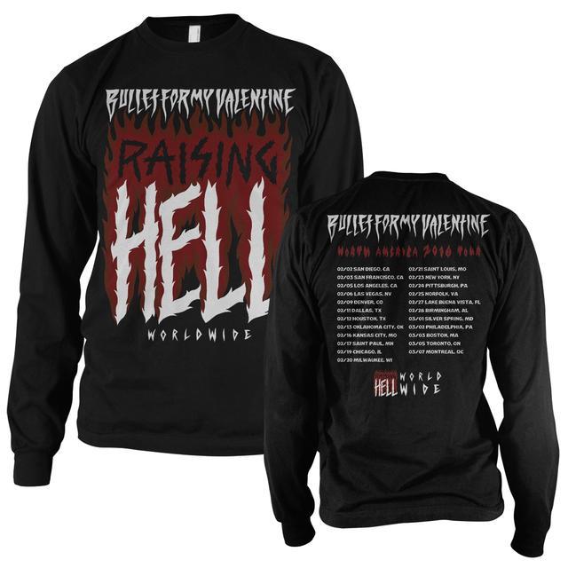 Bullet For My Valentine Raising Hell Longsleeve 2016 Tour T-Shirt