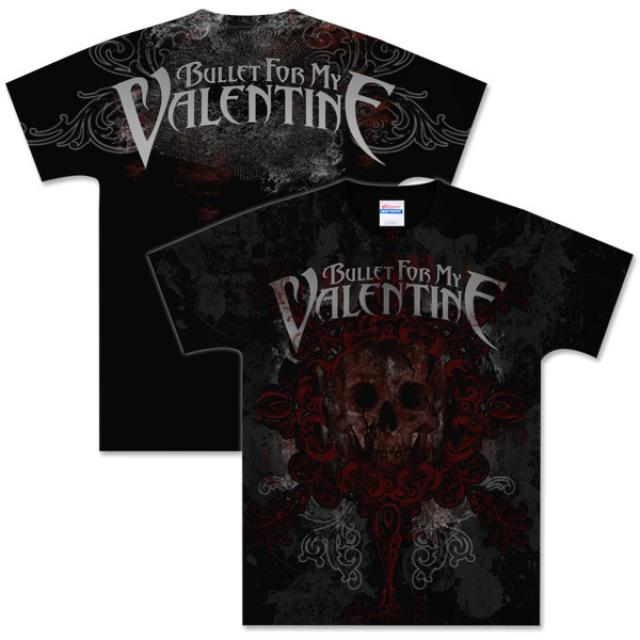 Bullet For My Valentine Skully Crest T-Shirt