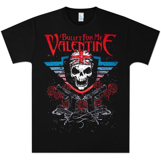 Bullet For My Valentine British Skull T-Shirt