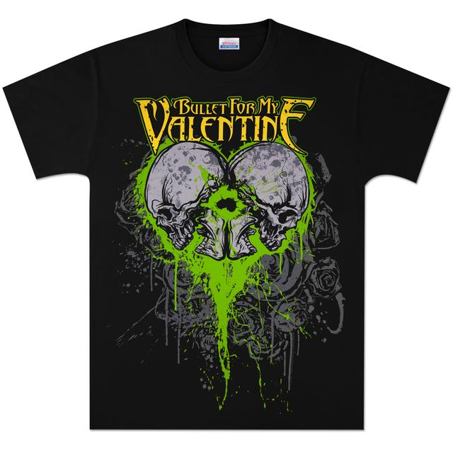 Bullet For My Valentine Skeleton Heart T-Shirt