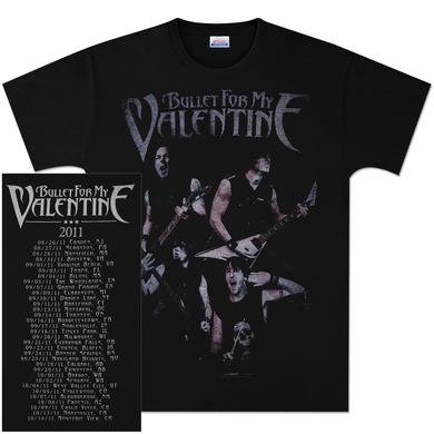 Bullet For My Valentine Band Photos 2011 Tour T-Shirt