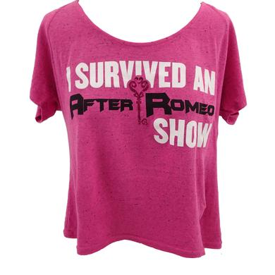After Romeo World I Survived Pink Tee