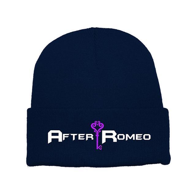 After Romeo World Navy Logo Beanie