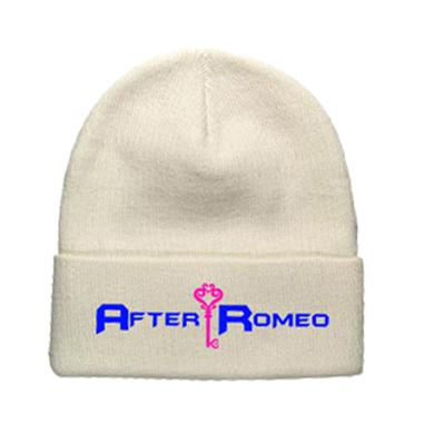 After Romeo World White Logo Beanie