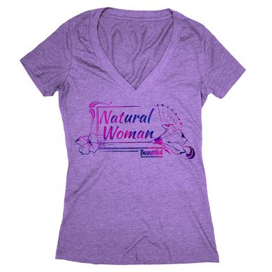 Beautiful Natural Woman V-Neck Tee