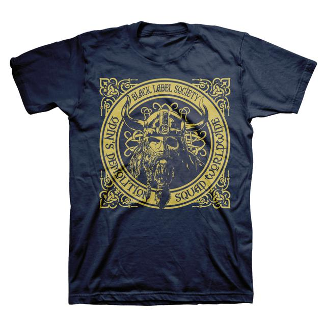 Black Label Society Navy Odin Demo Squad Tee
