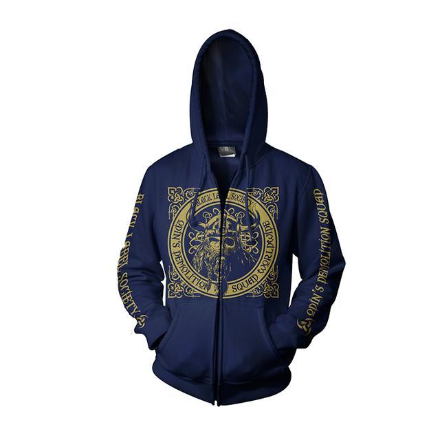 Black Label Society Navy Odin Hoodie