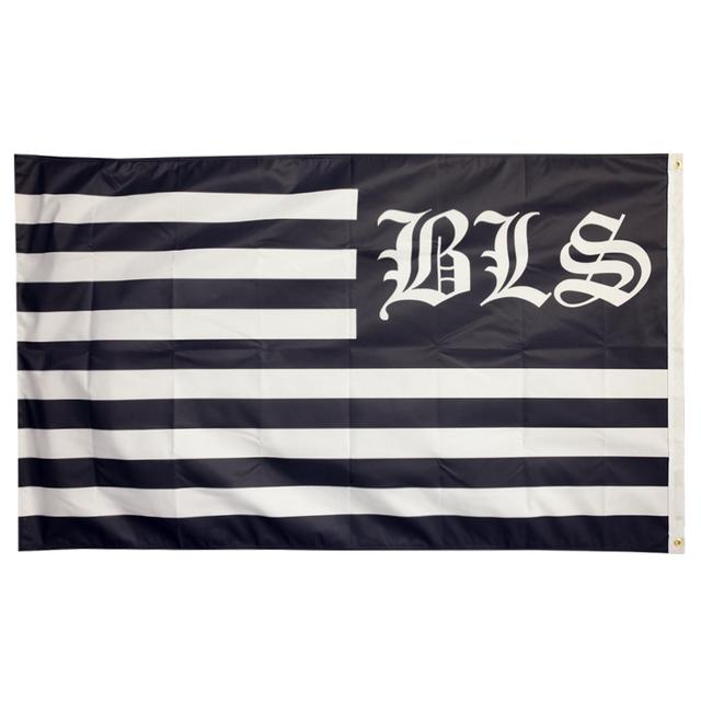 Black Label Society BLS Striped Wall Flag