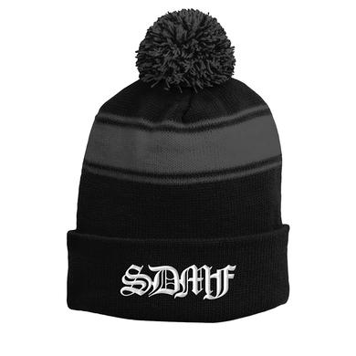 Black Label Society BLS Striped Pom Beanie