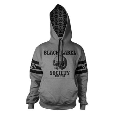 Black Label Society Custom Striped Hoodie