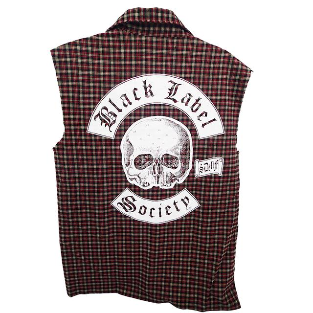 Black Label Society Red Flannel Button Down Vest