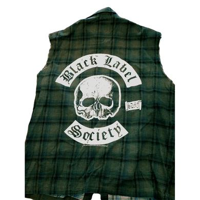 Black Label Society Plaid Button Down Vest
