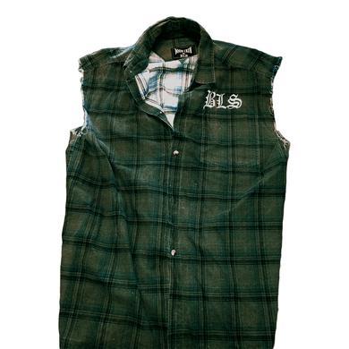 Black Label Society Plaid Button Down Vest