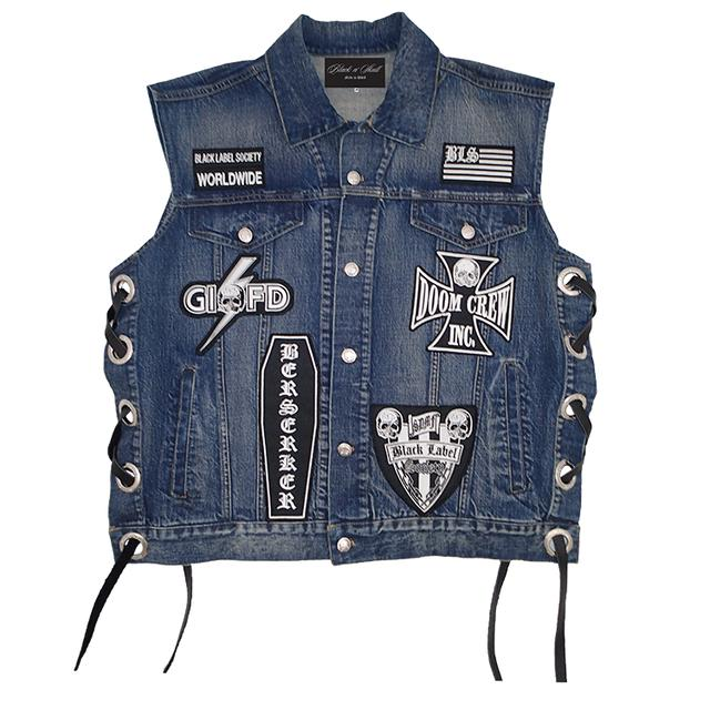 Black Label Society Official Deluxe Denim Vest