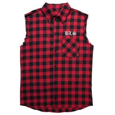 Black Label Society BLS Red Flannel Vest