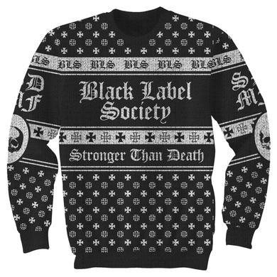 Black Label Society Jacquard Skully Sweater