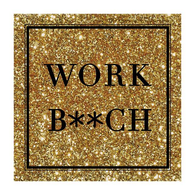 Britney Spears Work B**ch Gold Glitter Magnet