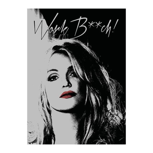 Britney Spears Work B**ch Graphic Magnet