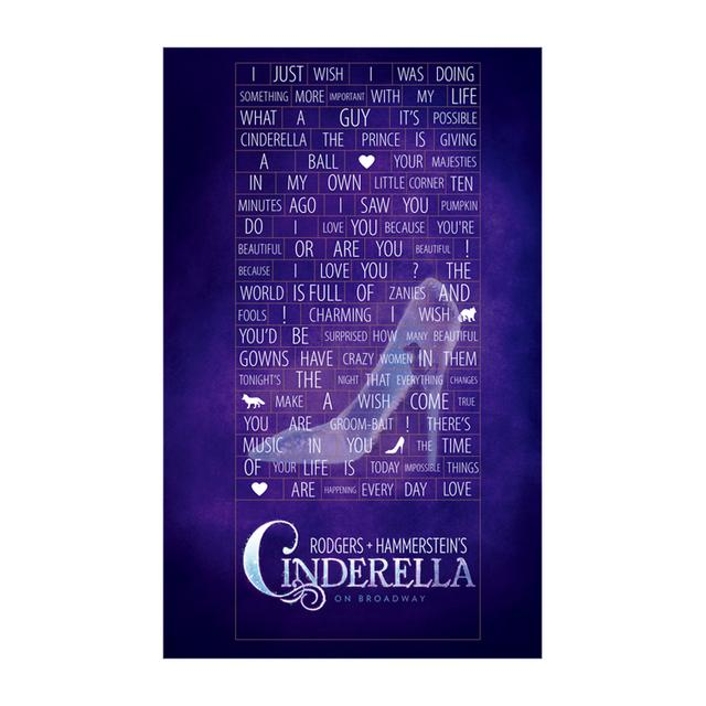 Cinderella Words Magnet