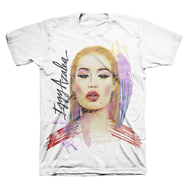 Iggy Azalea White Painted Tee