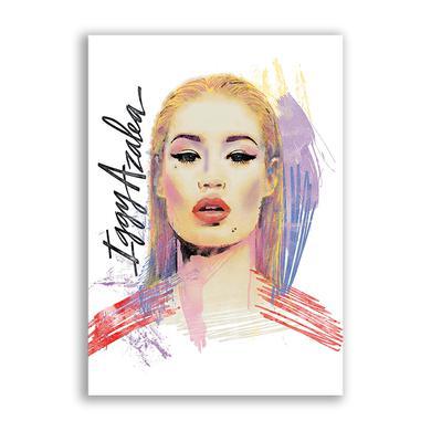 Iggy Azalea Paint Poster White