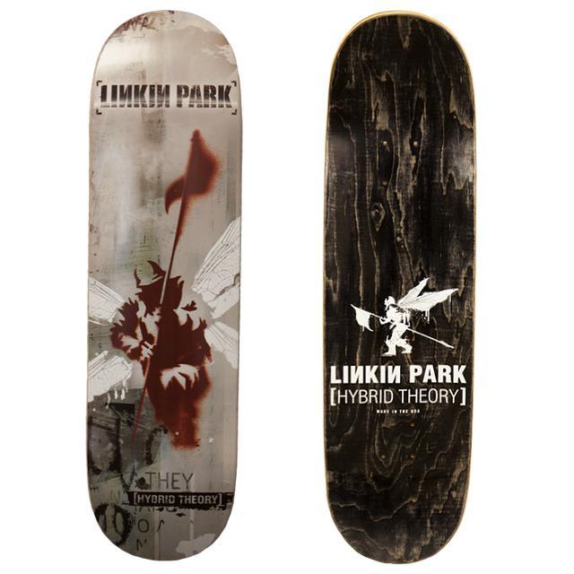 Linkin Park Black Hybrid Theory Skatedeck