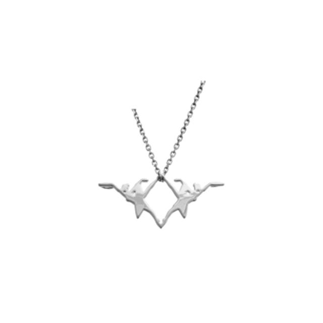 NYC Ballet Silver Alexandra Necklace