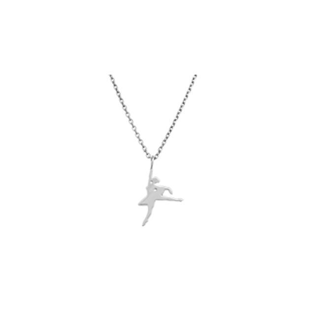 NYC Ballet Silver Vera Releve Necklace