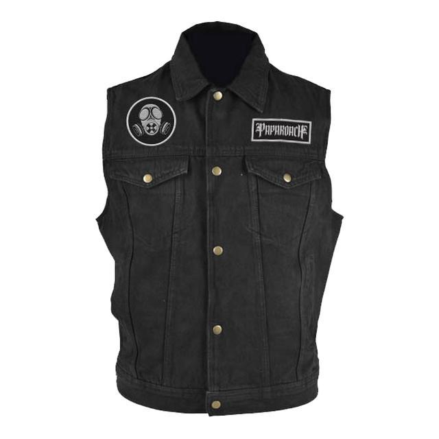 Papa Roach Black Denim Vest