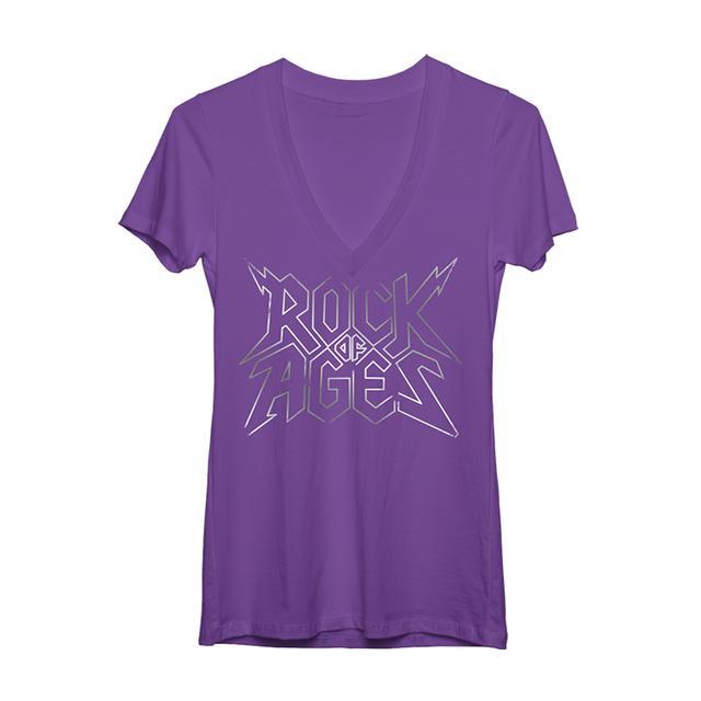 Rock Of Ages Women's Logo V-Neck