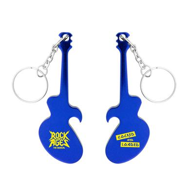 Rock Of Ages Guitar Bottle Opener Keychain