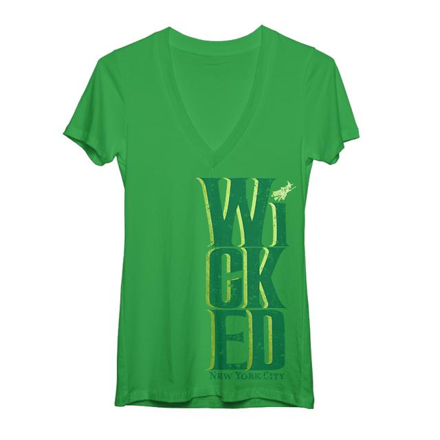 Wicked Organic Logo Foil V-neck